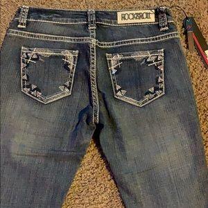 NWT Rock &Roll cowgirl denim jeans size 28 28x34